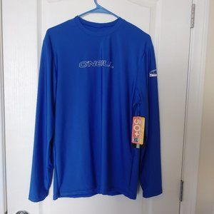 O'Neill cobolt blue long sleeve top with tags M